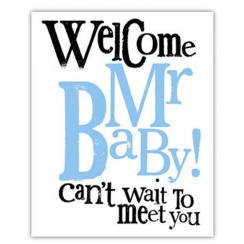 Welcome Mr Baby Card