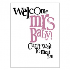 Welcome Mrs Baby Card
