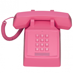 2500 Retro Phone, Flamingo Pink