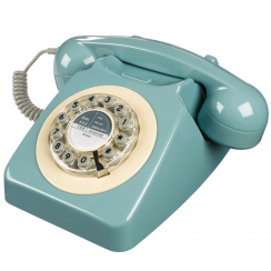 746 Push Button Retro French Blue Telephone