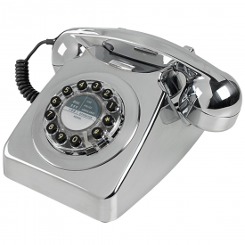 746 Retro Push Button Chrome Brushed Telephone
