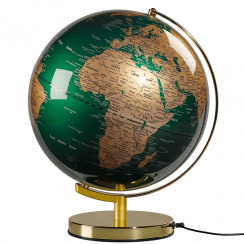 "Fir Green & Brass 12"" Globe Light"