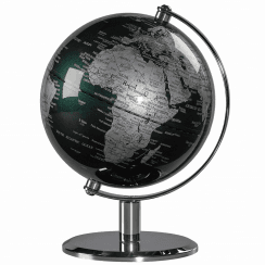 Fir Green & Chrome Desk Globe 6""