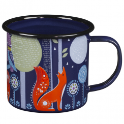 Folklore Night Enamel Mug