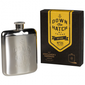 Gentlemen's Hardware Brass Hip Flask
