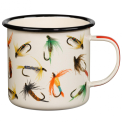 Hook Line and Sinker Flies Enamel Mug