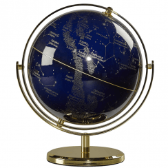 Night Sky Swivel Stand Globe 8""