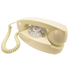 Princess Cream Retro Push Button Telephone