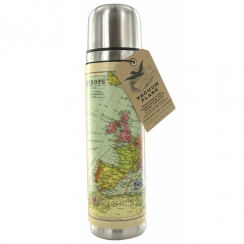 World Map Stainless Steel Vacuum Flask