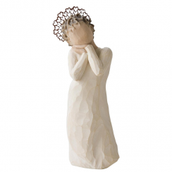 Angel Love Hand Painted Figurine