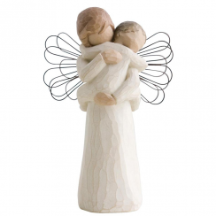 Angel's Embrace Hand Painted Figurine