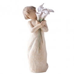 Beautiful Wishes Hand Painted Figurine
