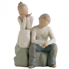 Brother and Sister Figurine