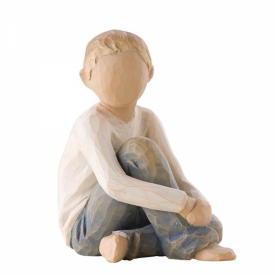 Caring Child Hand Painted Figurine