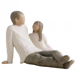 Father and Daughter Figurine