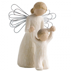 Guardian Angel Hand Painted Figurine