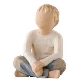 Imaginative Child Hand Painted Figurine