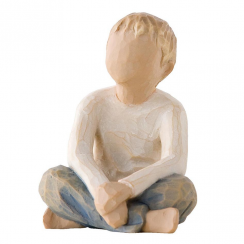 Imaginative Hand Painted Child Figurine