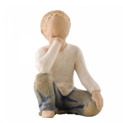 Inquisitive Child Hand Painted Figurine