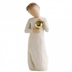 Keepsake Girl Hand Painted Figurine