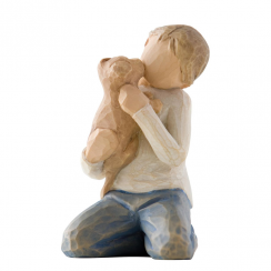 Kindness Boy Hand Painted Figurine