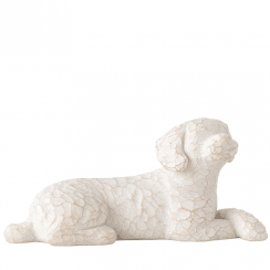 Love my Dog Small Lying Figurine
