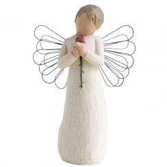 Loving Angel Hand Painted Figurine