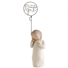 Miss You Hand Painted Figurine