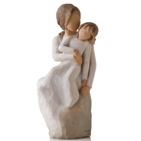 Mother Daughter Hand Painted Figurine