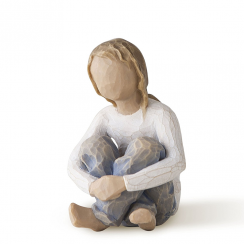 Spirited Child Hand Painted Figurine