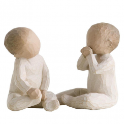 Two Together Hand Painted Figurine
