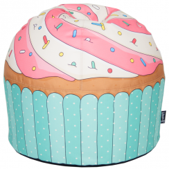 Blue Cupcake Hand Crafted Beanbag
