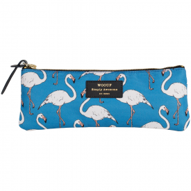 Blue Flamingo Pencil Case