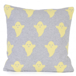 Ghost Cushion in Grey & Yellow