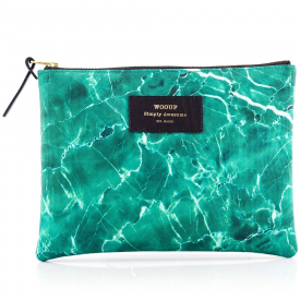 Green Marble Large Pouch