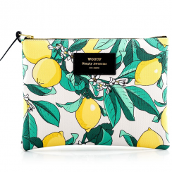 Lemon Zipped Large Pouch