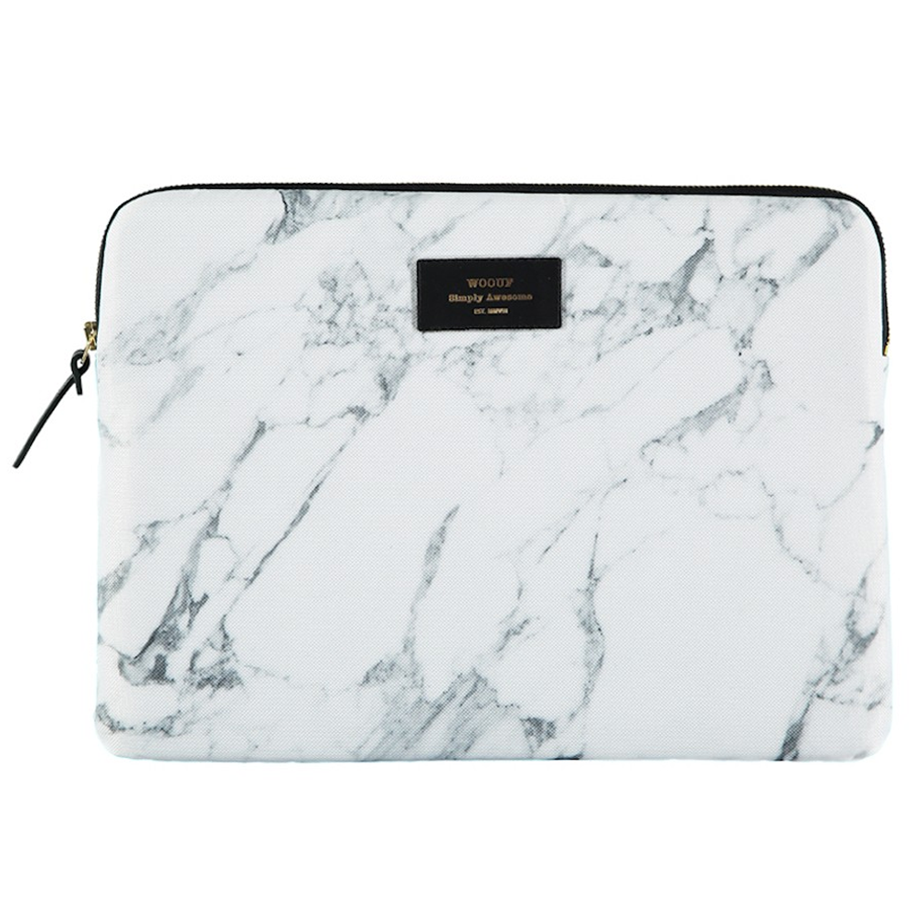 Wouf White Marble MacBook Pro 13 Laptop Sleeve
