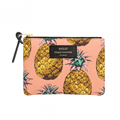 Ananas Zipped Small Pouch