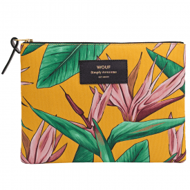 Bird of Paradise Zipped Large Pouch