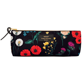 Black Blossom Pencil Case