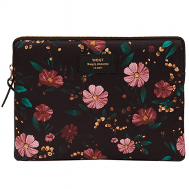 Black Flowers iPad Sleeve