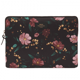 "Black Flowers MacBook Pro 13"" Laptop Sleeve"
