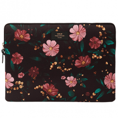 "Black Flowers Macbook Pro 15"" Laptop Sleeve"