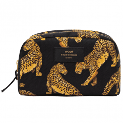 Black Leopard Big Beauty Make up Bag