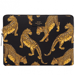 "Black Leopard Macbook Pro 15"" Laptop Sleeve"