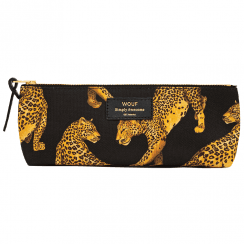 Black Leopard Pencil Case