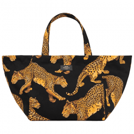 Black Leopard XL Tote Bag