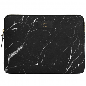 "Black Marble MacBook Pro 13"" Laptop Sleeve"