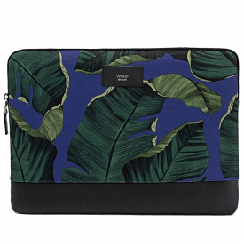 "Blue Leaves MacBook Pro 13"" Laptop Sleeve"