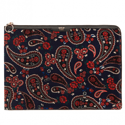 "Blue Paisley Velvet MacBook Pro 13"" Laptop Sleeve"